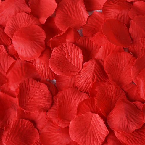 500 Silk Rose Petals For Table Confetti Decoration - Red