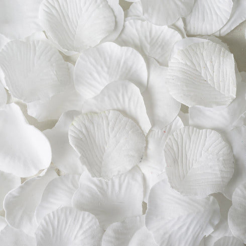 500 White Silk Rose Petals For Table Confetti