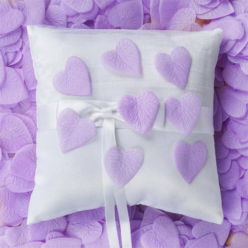 500 Pack | Lavender | Silk Heart Confetti | Party Table Scatters