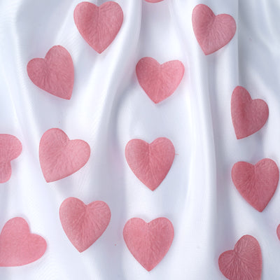 500 Pack Rose Quartz  Silk Heart Petal Confetti Table Aisle Decoration