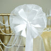 "24"" Satin Organza Ribbon 2 Tier Floral Pew Bows"
