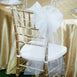 "24"" Organza Ribbon With Pearl String White Flowers Wedding Pew Bows Church Chair Decoration"