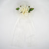 "24"" Organza Ribbon With Blooming Roses Pew Bows"