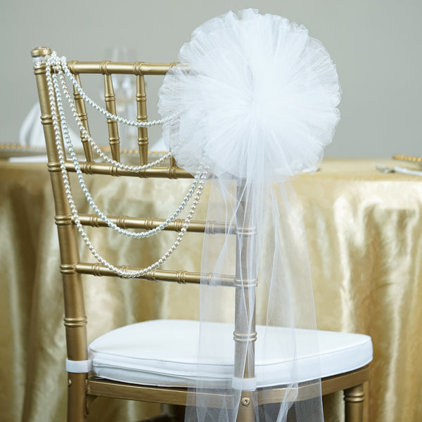 "24"" Wide Tulle Ribbon With 16 Loops"