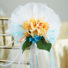 "24"" Satin Organza Ribbon With Hydrangeas Ranunculus Flowers Pew Bows"