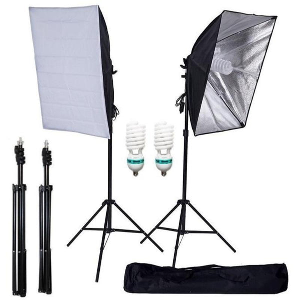 "700W | 27 x 20"" Photography Equipment Softbox Studio Lighting Kit"