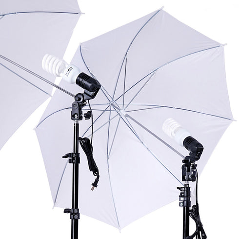 "Photography Studio Lights Continuous Soft Box Lighting Kit 45W 6500k White Soft Umbrella Reflector 33"" + Background Support Stand (10x8.8FT) + 3 Backdrops (9x6FT, White Back Green) + Carrying Bag"