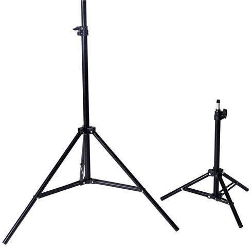 10Ft Background Support System, 600W 6500K White Umbrella Lighting Photo Video Studio Kit With Chromakey Background Muslins (Green Black White) - Free Carry Case