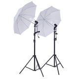 "2 x 33"" White 6500K Daylight 400W Soft Umbrella Reflector Photography Studio Lighting Kit"