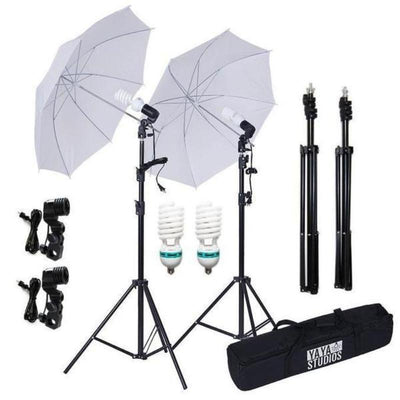 Photography Photo Portrait Studio 400W Day Light White Umbrella Continuous Lighting Kit