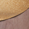 6 Pack Glitter Placemat Non Slip Table Placemats, Oval Faux Leather Placemats With Glitter