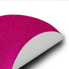 6 Pack Non Slip Table Placemats, Oval Faux Leather Placemats With Glitter - Fushia