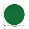 6 Pack Glitter Placemat Non Slip Table Placemats, Round Faux Leather Placemats With Glitter - Green