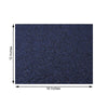 6 Pack Placemats, Navy Blue Dining Table Mats, Rectangle Faux Leather Glitter Placemat