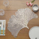 Gold Fan Placemat, Vinyl Placemat, Dining Table Placemat