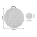 "6 Pack | 15"" Silver Dodecagon Woven Vinyl Placemats 