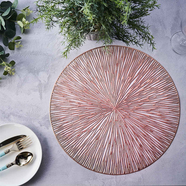 "6 Pack | 15"" Round Vinyl Placemats 