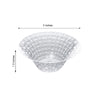 Set of 10 - 5oz Clear Basketweave Round Disposable Plastic Bowls