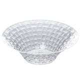 10 Pack Clear 8oz Basketweave Plastic Round Disposable Bowl