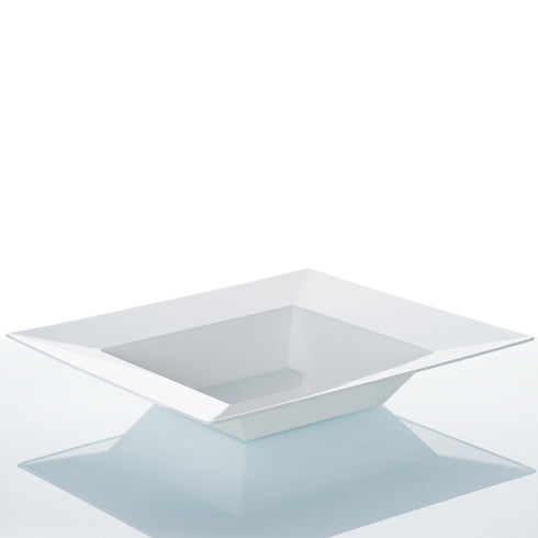 10 Pack White 12oz Sorrentine Plastic Square Disposable Bowl