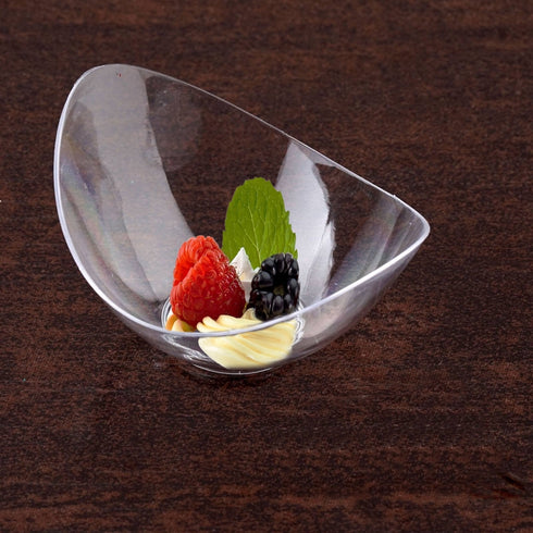24 Pack Clear 1oz Tiny Wonders Plastic Disposable Tasting Bowl