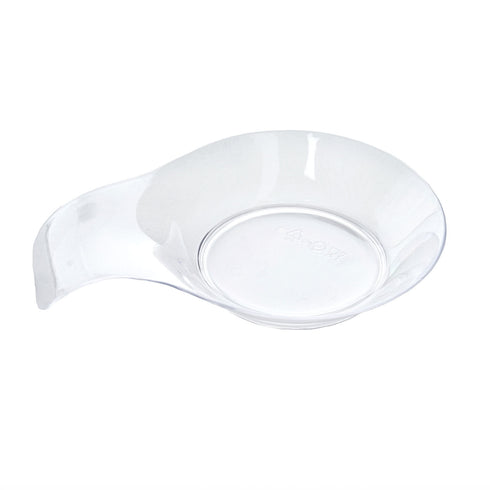 "24 Pack - Clear Ravishing Handled Round 2.75"" x 4"" Disposable Dessert Plate"