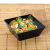 12 Pack Black 10oz Innovative Plastic Square Disposable Bowl
