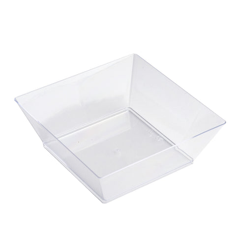Set of 12 - 10oz Clear Innovative Square Disposable Plastic Bowls