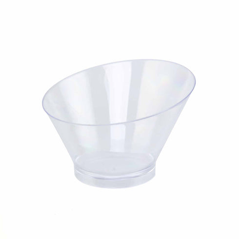 Set of 20 - 7oz Clear Modern Round Disposable Plastic Bowls