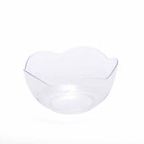 24 Pack White 2oz Plastic Floriated Rose Round Disposable Dessert Bowl