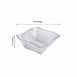 Set of 12 - 35oz Clear Wave Design Square Disposable Plastic Serving Bowls