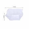 Set of 12 - 16oz Clear Wave Design Square Disposable Plastic Bowls