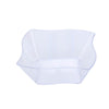 Set of 12 - 6oz Clear Wave Design Square Disposable Plastic Bowls