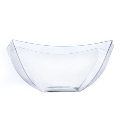 12 Pack Clear 8oz Plastic Curved Square Disposable Bowl