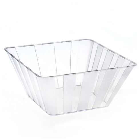12 Pack Clear 7oz Chambury Plastic Square Disposable Bowl