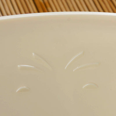 4 Pack Ivory 2qt Chambury Plastic Oval Disposable Serving Bowl