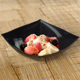 4 Pack Black 32oz Chambury Plastic Square Disposable Serving Bowl