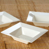 10 Pack Ivory 5oz Plastic Square Disposable Bowl