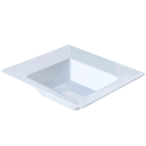 10 Pack White 5oz Plastic Square Disposable Bowl