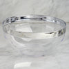 4 Pack Clear 2qt Round Disposable Plastic Bowls with Silver Rim