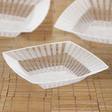 10 Pack Clear 32oz Chambury Plastic Square Disposable Serving Bowl