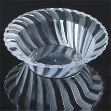 12 Pack - Clear Flaired Round 5oz Disposable Bowl - Partytown Plastics