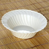 12 Pack - Ivory Flaired Round 5oz Disposable Bowl - Partytown Plastics
