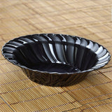 12 Pack - Black Flaired Round 16oz Disposable Bowl - Partytown Plastics