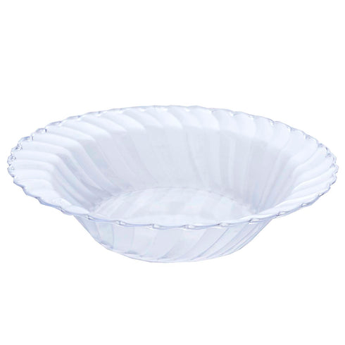 12 Pack Clear 16oz Plastic Flared Round Disposable Bowl