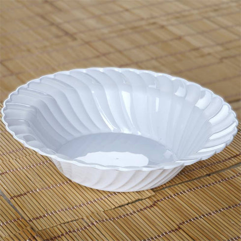 12 Pack - White Flaired Round 16oz Disposable Bowl - Partytown Plastics