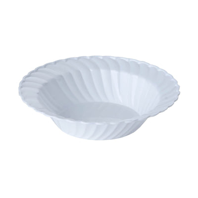 12 Pack White 16oz Chambury Plastic Flared Round Disposable Bowl