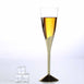Plastic Champagne Flutes Disposable | 5 oz | 6 Pack | Gold | Colored Detachable Base
