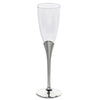 Plastic Champagne Flutes Disposable | 5 oz | 6 Pack | Silver | Colored Detachable Base