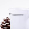 8 Pack White with Silver 8oz Disposable Coffee Cups Tres Chic Collection
